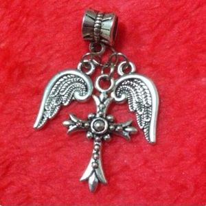 Wing Cross Dangle Charm